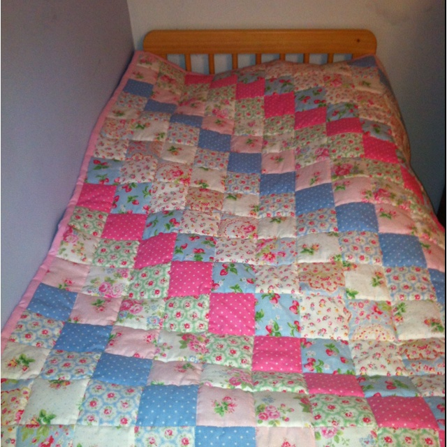 Cath kidston fabric quilt I made for Alex