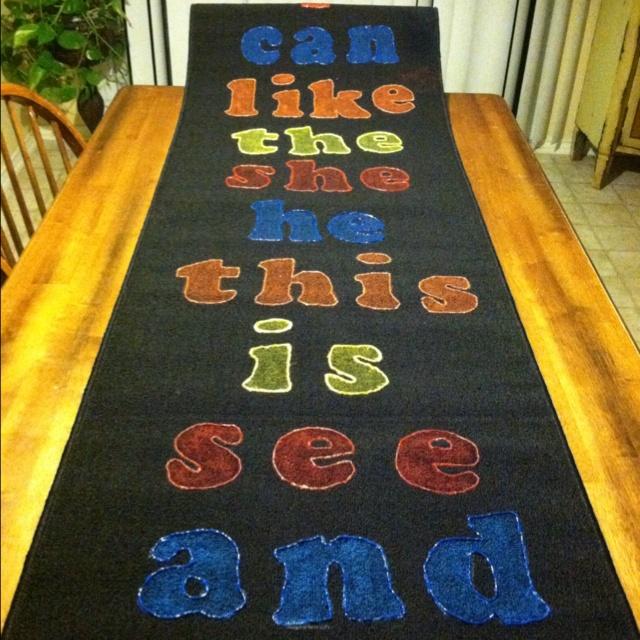 Sight word rug