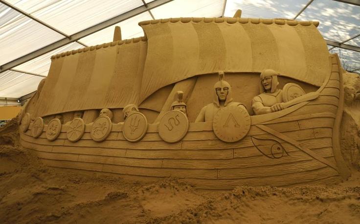 Jason and the argonauts at Sandworld Weymouth