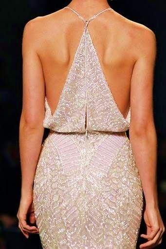 Imgend - dramatic back, lovely beaded dress.