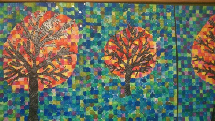 1a kale boom met koude en warme kleuren tekenen pinterest boerenkool en met - Koude en warme kleuren ...