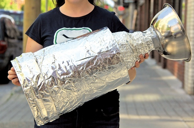 Build your own Stanley Cup.  This might actually be a project Q would enjoy.