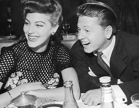 Young Love & First Marriage - And hard to believe - Ava Gardner & her first husband, Mickey Rooney