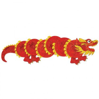 Paper Plate Dragon - Chinese Dragons are believed to bring good luck to people. Create your own dragon using our free template and common craft materials.