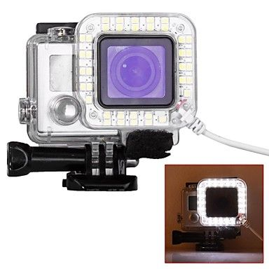 Protective Case Spot Light LED USB LED For Action Camera Gopro 6 Gopro 5 Gopro 4 Silver Gopro 4 Gopro 4 Black Gopro 3 Gopro 3+ Gopro 3/2/1