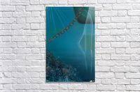 Acrylic Print,  for sale, ocean, underwater, world, scene, sea, water, depth, abyss, nautical, spirit, mystery,chain,rusty,reef,corals,bubbles,blue,fantasy,surreal,beautiful,image,fine art, painting, modern, virtual,deviant,wall,art,awesome,cool,artistic,artwork, decor, items, ideas, pictorem