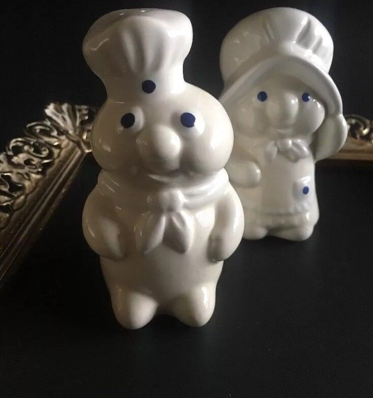 Vintage Pillsbury Dough Boy and Girl Salt and Pepper Shakers from 1988  | eBay