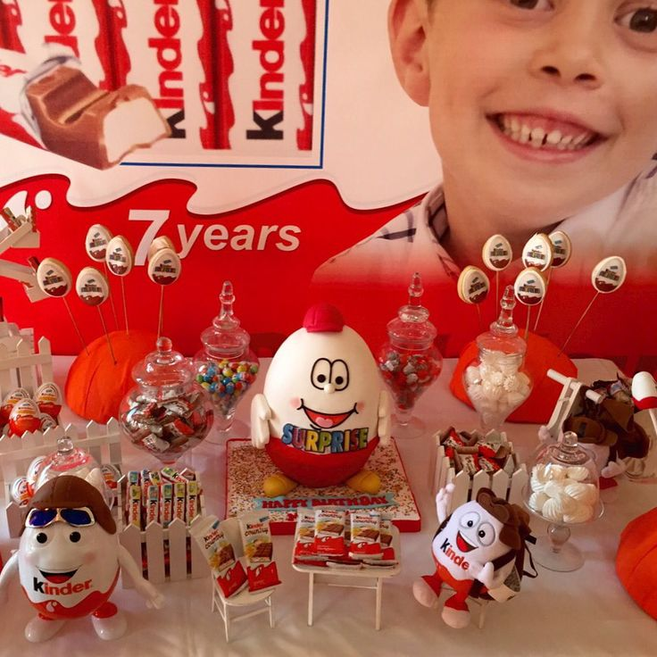 Kinder Surprise themed birthday Party