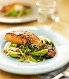 teriyaki-salmon with stir-fry vegetables