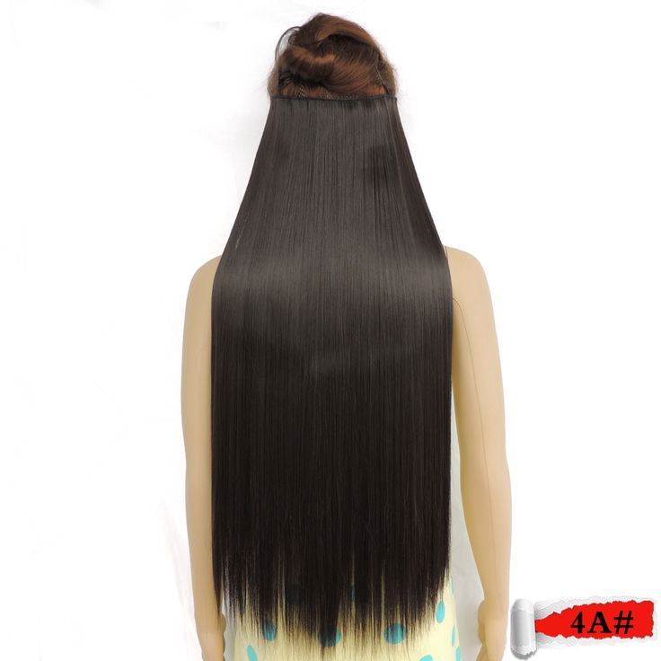 secret super long clip in hair extension extensions synthetic haar extensiones expression girl straight black brown 4a#
