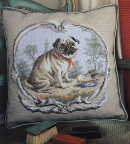 Ehrman-Designer-GRAHAM-RUST-PUG-CUSHION-Colour-Tapestry-Needlepoint-Chart