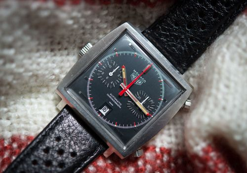 HODINKEE: A (Vintage) Week On The Wrist: The Heuer Monaco---The Monaco might be one of the most recognizable watches of the 20th century, no doubt due to a phenomenal amount of money spent by TAG Heuer in celebrating its connection with Steve McQueen.  But, what is the original Monaco like to wear, and live with?  Until recently, when I spent a full week with the vintage Heuer Monaco 1133(G) on the wrist.  But first, a little perspective…