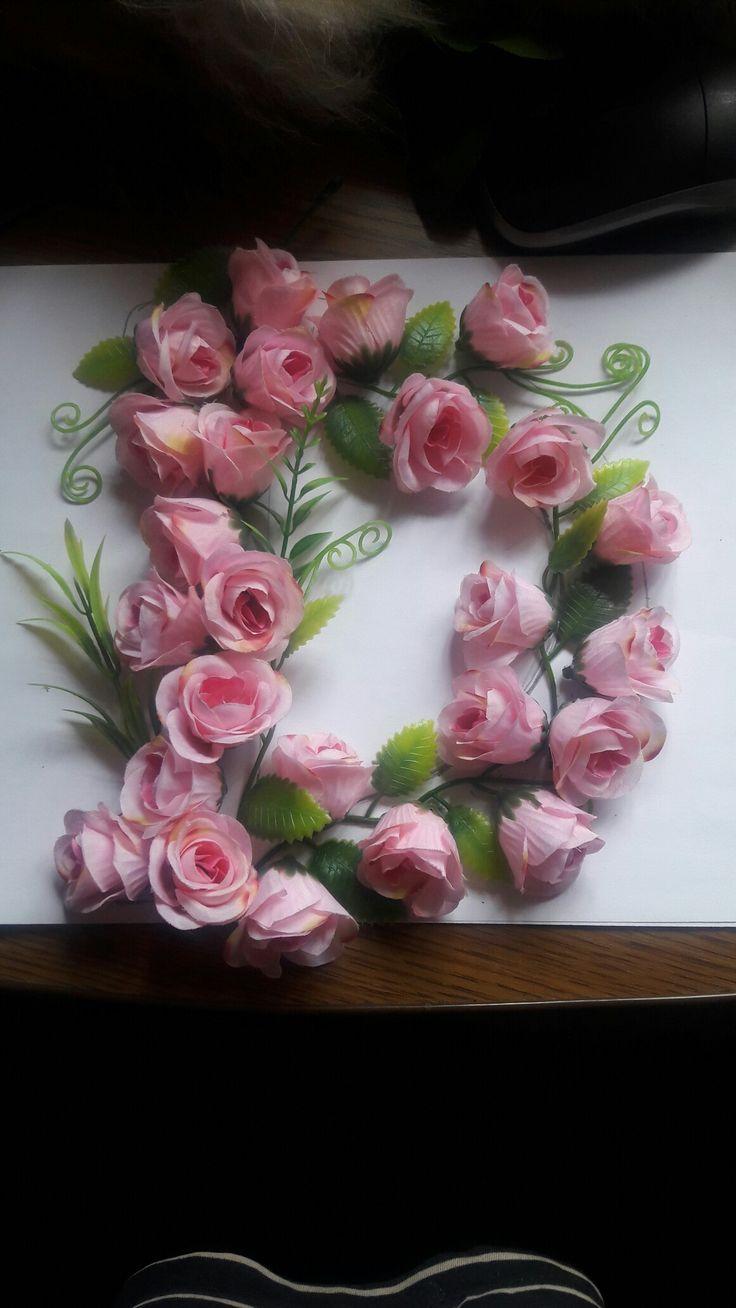 Буква из цветов #floral letter Моя буковка ко Дню рождения доченьки!