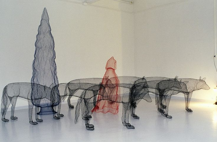 Ridinghood and wolves by Benedetta Mori Ubaldini