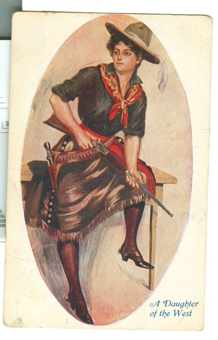 Vintage postcards, Cowgirl and Postcards on Pinterest