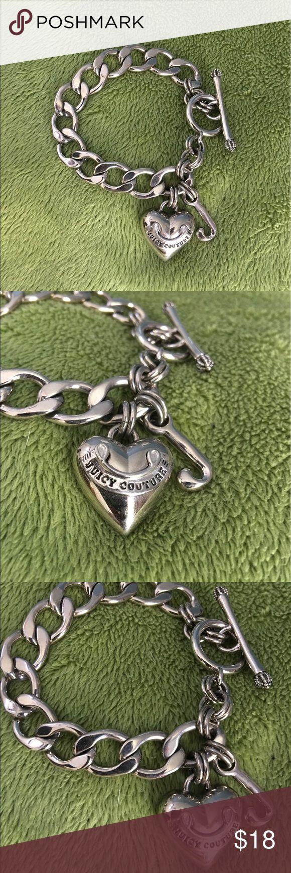 Juicy Couture Silver Finish Charm Bracelet