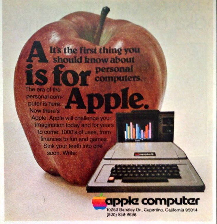 """1978 Apple II Computer Ad """"A Is For Apple"""""""