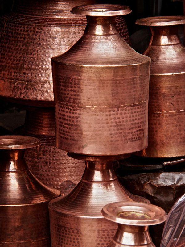Copper water pots