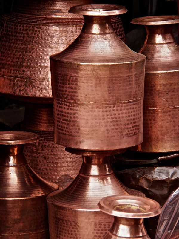 Copper water pots