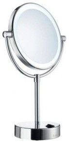 Smedbo OUTLINE Shaving/Make-Up Mirror With LED-Lights FK474 - modern - mirrors - new york - by ExoticBathExpo.com