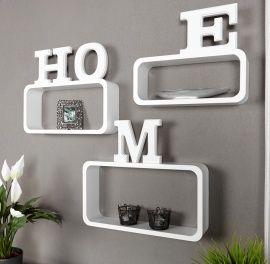 Lounge wandcube - medium - wit | HIFI TV meubels - wandkast | Design meubels, Retro verlichting & cadeaushop, Space Age new vintage