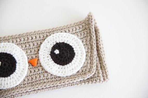 Crochet Owl Pouch Crochet Eye Glass Case by daydreamsbymeri
