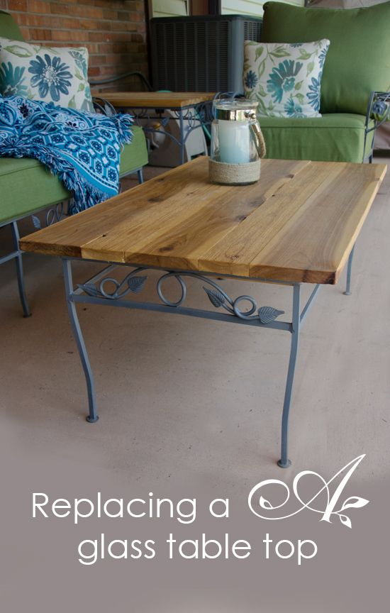 Replacing A Glass Table Top Home Projects Outdoor