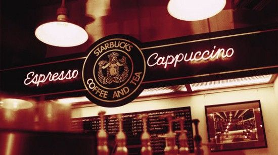 We get our coffee from the ORIGINAL Starbucks. Pretty cool.