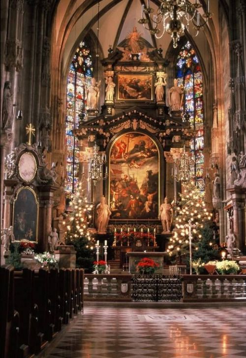 Christmas time at St Stephens Cathedral Vienna.                                                                                                                                                                                 More