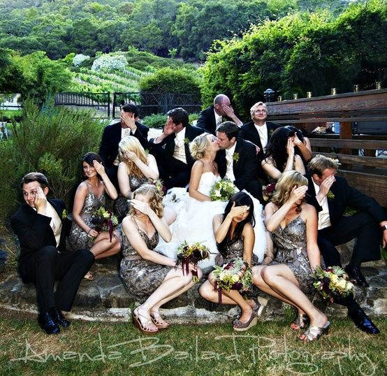 15 of the most awesome bridal party poses... ever - Click image to find more Weddings Pinterest pins