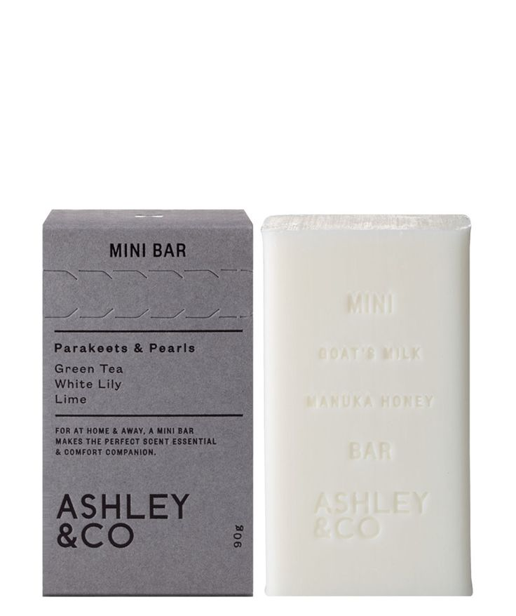 Now this is what we call a well stocked Mini Bar! Soap for your hands and body, the Mini Bar Soap from Ashely and Co is made from goats' milk and manuka honey so you can truly indulge. | huntingforgeorge.com