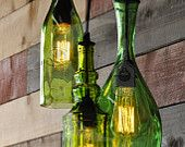 Items similar to Recycled bottle chandelier - The Harmony on Etsy