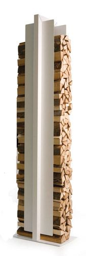 Combine traditional wood fire with sleek and modern design.
