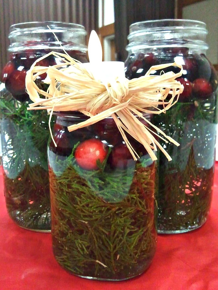 20 best christmas dinner party images on pinterest for What to fill mason jars with for christmas