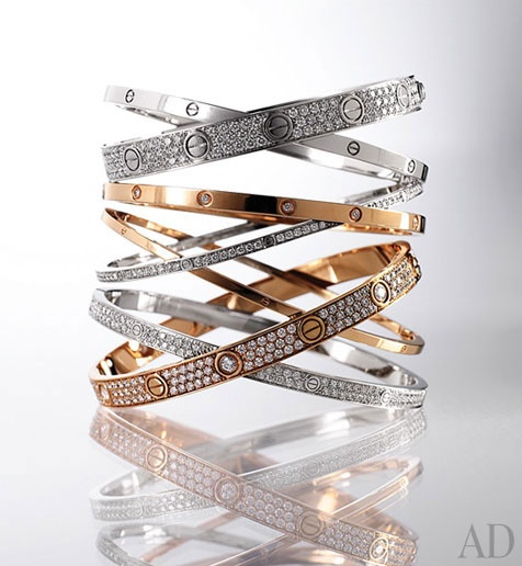 Cartier love bracelet; the small one with diamonds