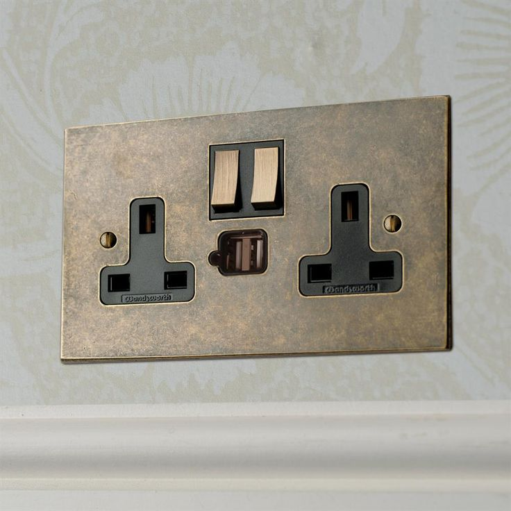 We have incorporated a pair of #USB #charging ports in to this 2 Gang #Plug Socket; perfect for #charging those #phones