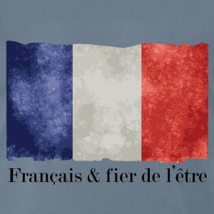 T shirt bleu g homme français et fier drapeau français BBR - T-shirt Premium Homme