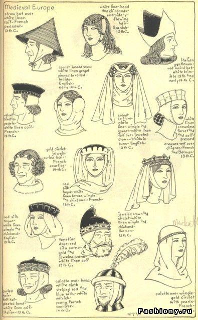 История моды часть 2. Мода средневековья / эпоха средневековья прически