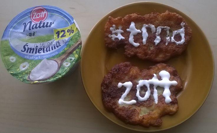 Śmietana Zott Natur uczynila ze zwyklych plackow ziemniaczanych potrawe ktora chce sie jesc i jesc :) #zottnaturalnie #trnd (bubcia1999)