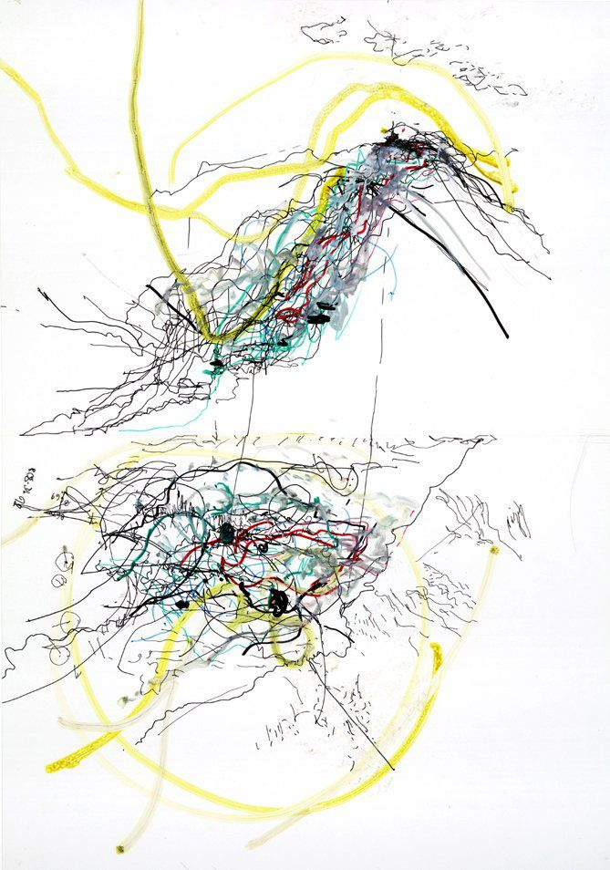 Touch drawing by Claud Heath