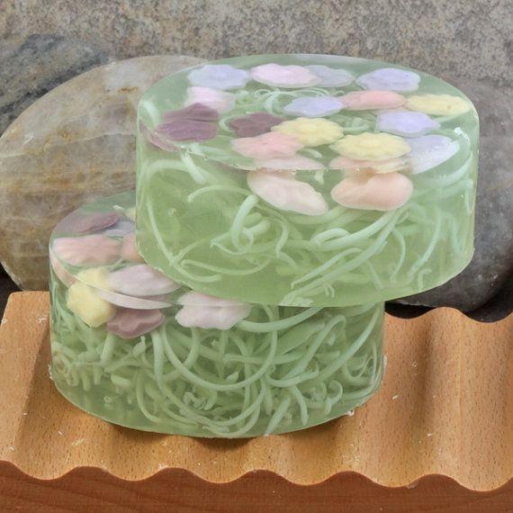 Floral Garden Handmade Glycerin Soap Bar от AlaiynaBSoaps на Etsy