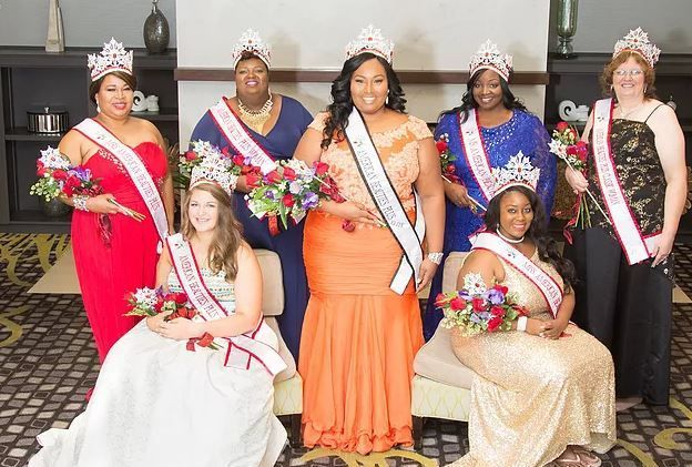 The difference between Miss America and the Miss Plus America pageants.     Pictured - Miss American Beauties Pageants plus titleholders