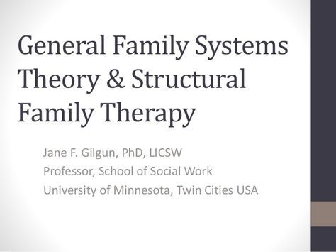 postmodern and family systems therapy term paper Therapy for childhood sexual abuse survivors using attachment and family systems theory  child receives from family mediates the long-term.