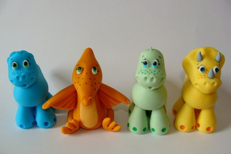 Dinosaur Cake Decorations Toppers : Edible Fondant Cake Toppers - Dinosaurs Dinosaur cake ...
