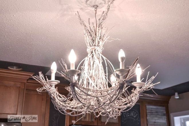 Lighting up my life with a white twig chandelier