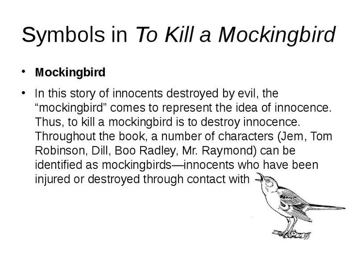 symbolism in tkam The title is more than just a title but is a symbol nbsp symbolism in to kill a mockingbird essay – 526 words bartleby is a book with several examples of symbolism.