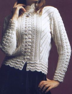 Free Knitting Patterns: White Pullover