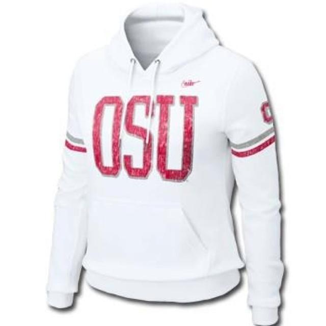 WHITE OHIO STATE HOODIE! I Am Getting This HOODIE Too!!! I Love White,,,