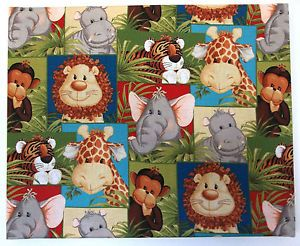 Jungle theme fabric animal print jungle theme canvas for Nursery monkey fabric