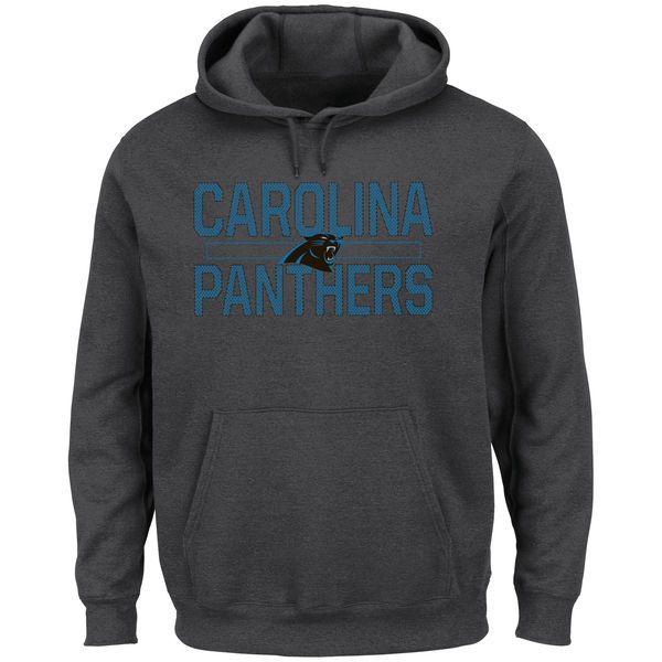 Carolina Panthers Majestic Big & Tall Kick Return Pullover Hoodie - Charcoal - $64.99